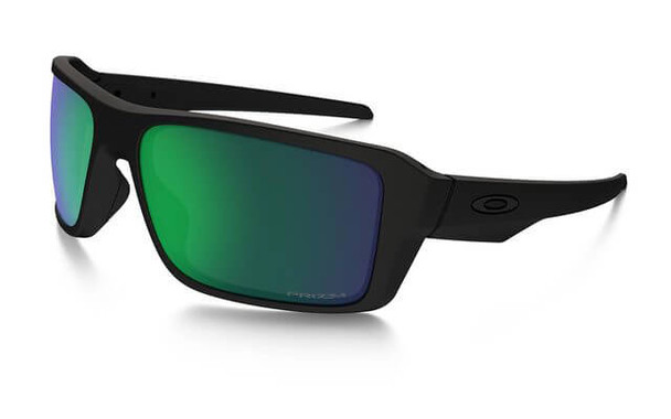 Oakley SI Double Edge Sunglasses with Matte Black Frame and Prizm Maritime Polarized Lens