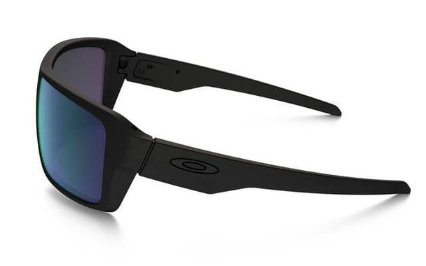 Oakley SI Double Edge Sunglasses with Matte Black Frame and Prizm Maritime Polarized Lens - Side