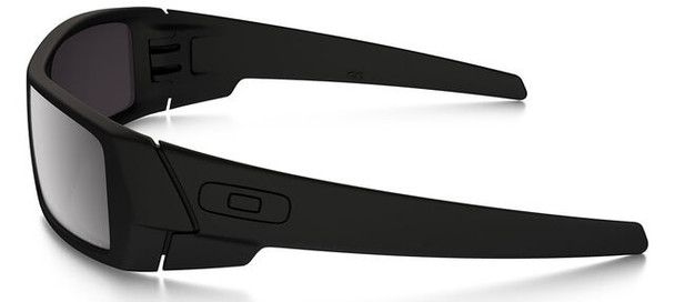 Oakley SI Blackside Gascan Sunglasses with Satin Black Frame and Prizm Black Polarized Lens - Side