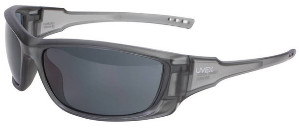 Uvex A1500 Safety Glasses with Matte Gray Frame and Gray Lens