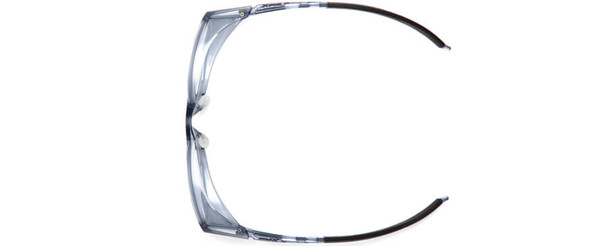 Pyramex Emerge Plus Bifocal Safety Glasses with Translucent Gray Frame and Clear Lens with Top Insert - Top