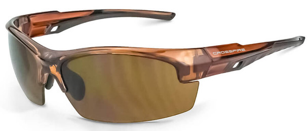 Crossfire Crucible Safety Glasses with Crystal Brown Frame and HD Brown Lens 40117