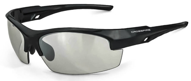 Crossfire Crucible Safety Glasses with Shiny Black Frame and Indoor/Outdoor Lens