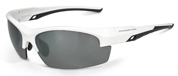 Crossfire Crucible Safety Glasses with White Frame and Polarized Silver Mirror Lens