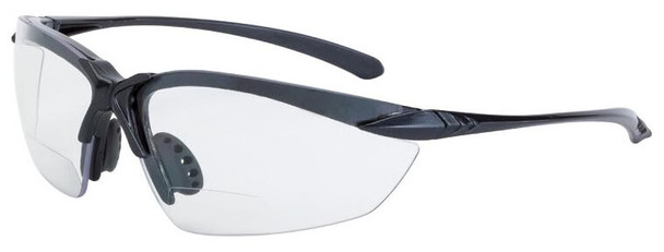 Crossfire Sniper Bifocal Safety Glasses with Shiny Pearl Gray Frame and Clear Lens