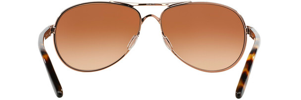 Oakley Feedback Sunglasses with Rose Gold Frame and VR50 Brown Gradient Lens - Back