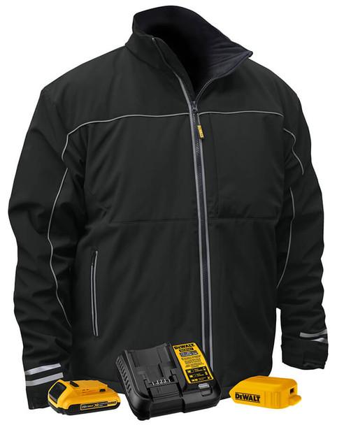 Dewalt Black Softshell Heated Jacket DCHJ072D1 Kit View