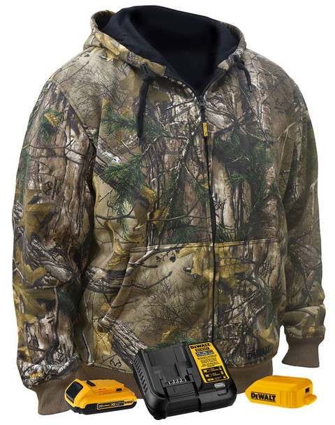 DeWalt Realtree Xtra Camouflage Heated Hoodie Sweatshirt DCHJ074D1