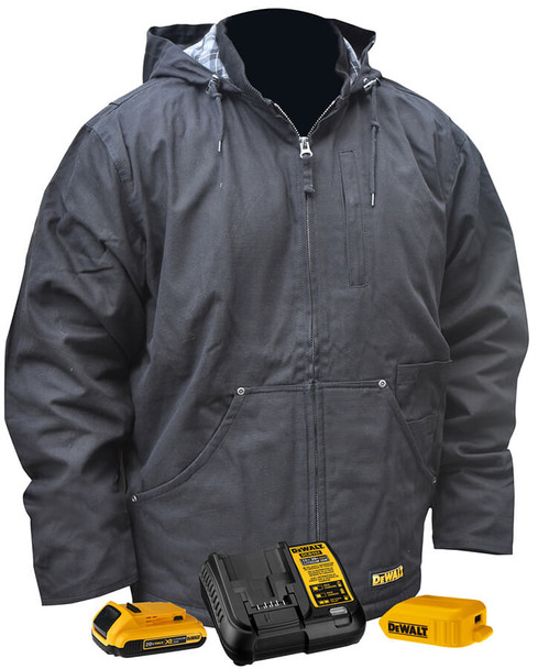 DeWalt DCHJ076ABD1 Unisex Heated Heavy Duty Work Coat With Battery & Charger