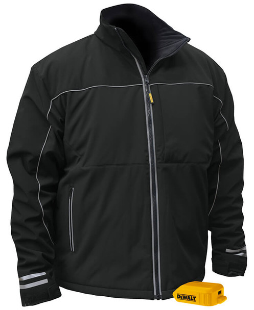 DEWALT DCHJ072B Unisex Heated Lightweight Soft Shell Jacket Without Battery Front View