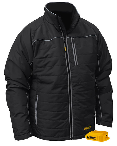 DeWalt DCHJ075B Unisex Heated Quilted Soft Shell Jacket Without Battery Front View
