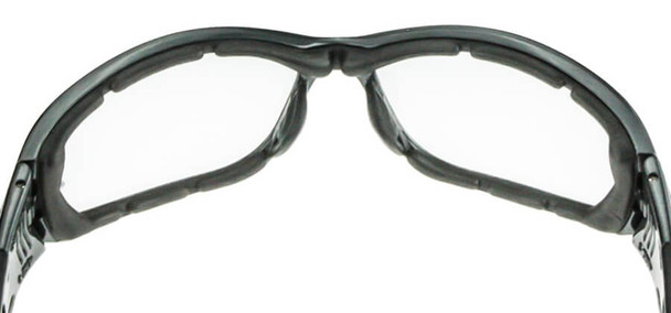Crossfire 710 Foam Lined Safety Glasses with Crystal Black Frame and Smoke Anti-Fog Lens