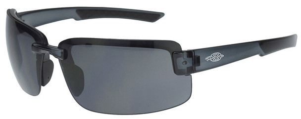 Crossfire ES6 Safety Glasses with Crystal Black Frame and Smoke Lens