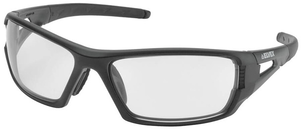 Elvex Rimfire Safety Glasses with Matte Black Frame and Clear Anti-Fog Lens