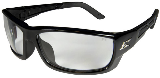 Edge Mazeno Slim Fit Safety Glasses with Black Frame and Clear Lens