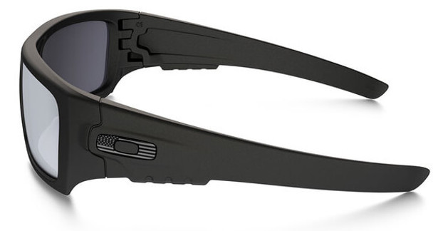 Oakley SI Ballistic Det Cord Sunglasses with Matte Black Tonal Flag Frame and Grey Lens - Side