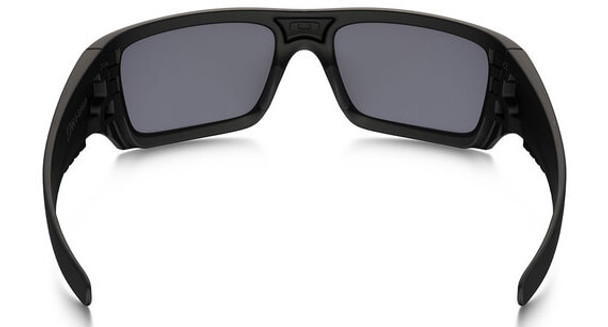 Oakley SI Ballistic Det Cord Sunglasses with Matte Black USA Flag Frame and Grey Lens - Back