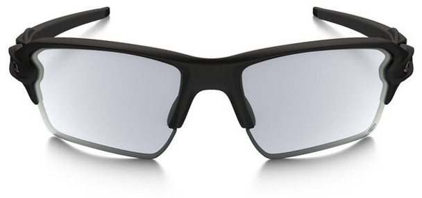 Oakley SI Flak 2.0 XL Sunglasses with Matte Black Frame and Photochromic Lens - Front