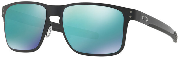 Oakley Holbrook Metal Sunglasses with Matte Black Frame and Jade Iridium Lens