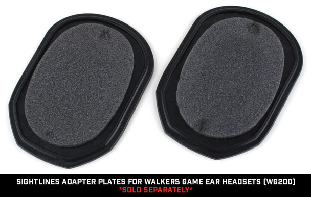 Noisefighters SightLines Adapter Plates For Walkers Game Ear Headsets WG200