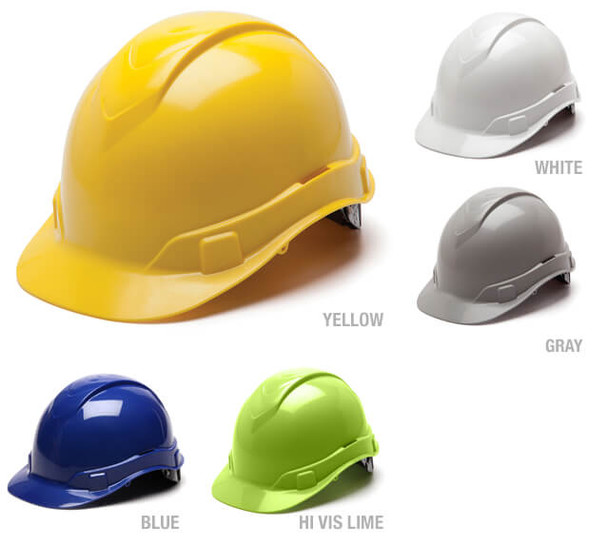 Pyramex Ridgeline Cap Style Hard Hat with 4-Point Ratchet Suspension