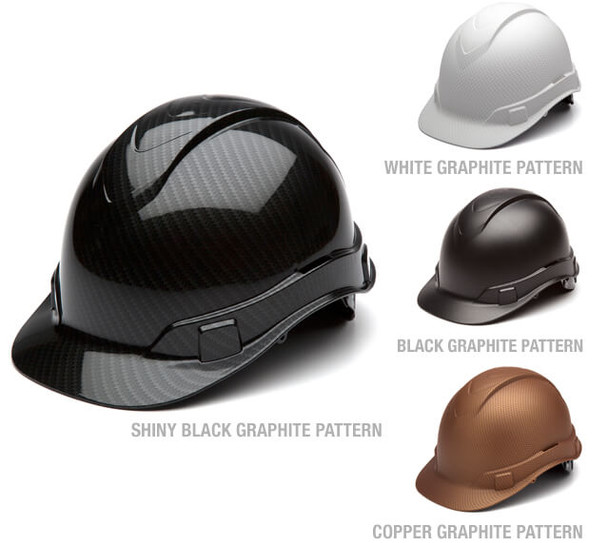 Pyramex Ridgeline Hydro Dipped Cap Style Hard Hat with 4-Point Ratchet Suspension