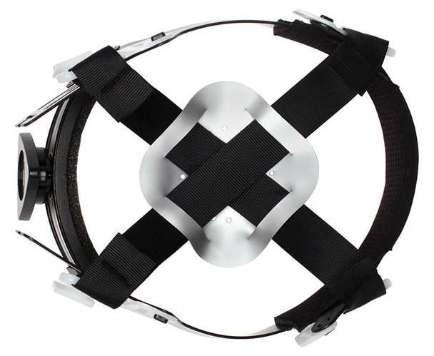 Pyramex Ridgeline Full Brim Hard Hat with 4-Point Ratchet Suspension - HP54100 4-Point Suspension