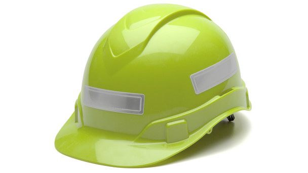 Pyramex Adhesive Reflective Strips for Hard Hats - White