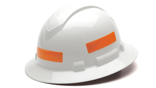Pyramex Adhesive Reflective Strips for Hard Hats - Orange