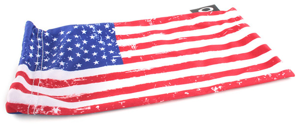 Oakley SI Batwolf with Matte Black USA Flag Frame and Prizm Black Lens - Pouch