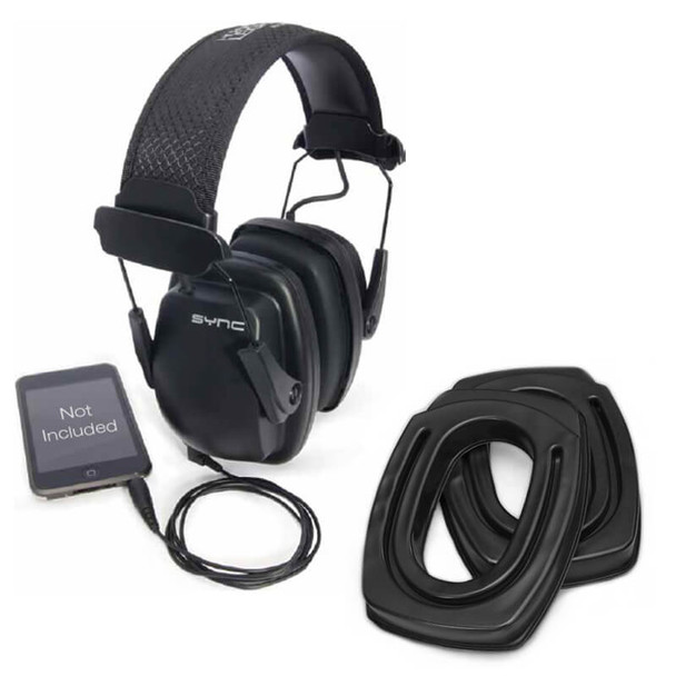 SightLines Ear Cushions & Howard Leight Sync Stereo Earmuff Bundle