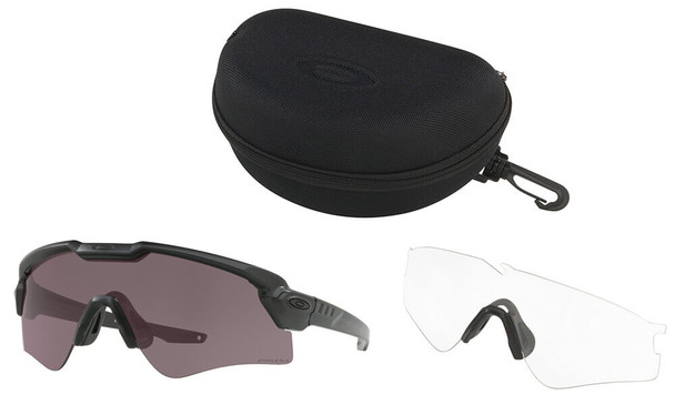 Oakley SI Ballistic M Frame Alpha Array with Black Frame and Prizm Grey and Clear Lenses