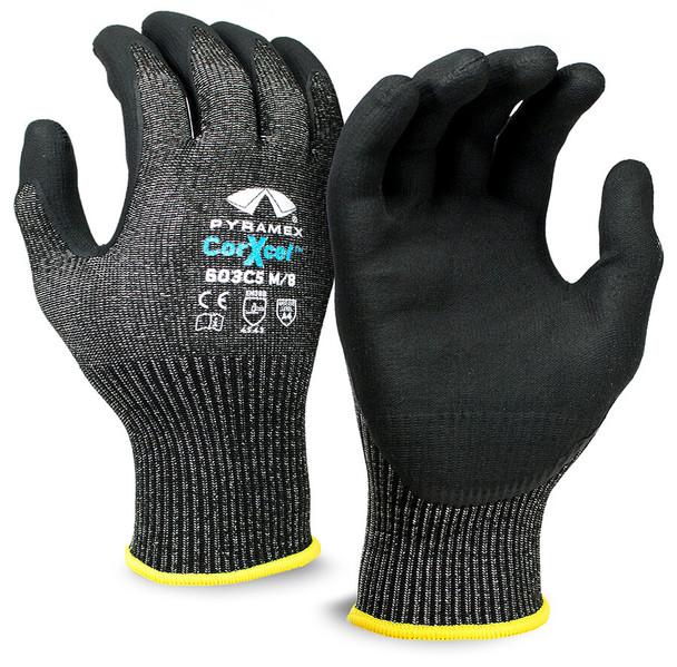 Pyramex GL603C5 Series Cut-Resistant Micro-Foam Nitrile Gloves