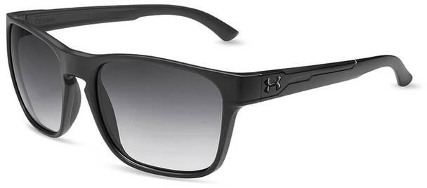 Under Armour Glimpse Sunglasses with Satin Black Frame and Gray Gradient Lens