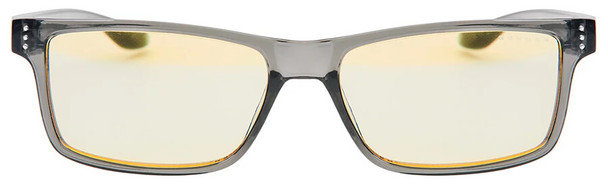 Gunnar Vertex Computer Glasses with Smoke Frame and Amber Lens - Front