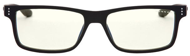 Gunnar Vertex Computer Reading Glasses with Onyx Frame and Liquet Lens - Front