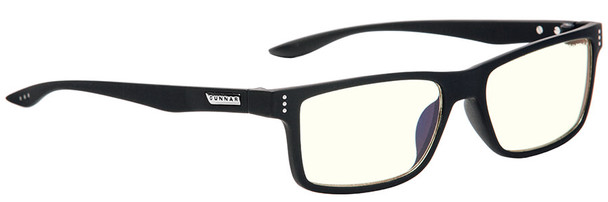 Gunnar Vertex Computer Reading Glasses with Onyx Frame and Liquet Lens