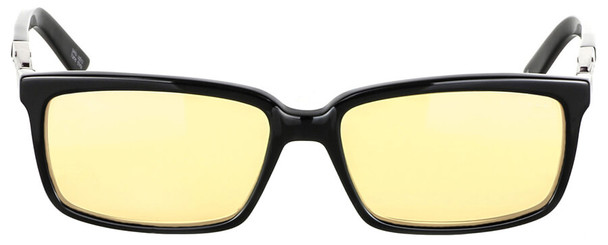 Gunnar Haus Computer Reading Glasses with Onyx Frame and Amber Lens - Front