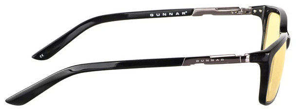 Gunnar Haus Computer Reading Glasses with Onyx Frame and Amber Lens - Side