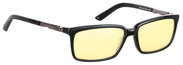Gunnar Haus Computer Reading Glasses with Onyx Frame and Amber Lens