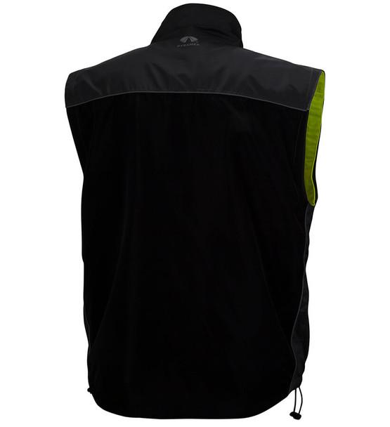 Pyramex RJR34 Reversible Class 3 Hi-Viz Lime 4-In-1 Safety Jacket - Vest Black Back