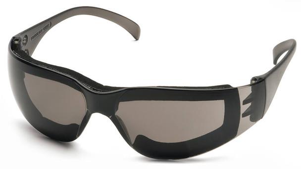 Pyramex Intruder Foam-Padded Safety Glasses with Gray Anti-Fog Lens