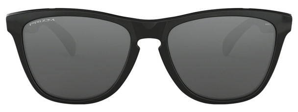 Oakley Frogskins Sunglasses with Polished Black Frame and Prizm Black Lens - Front