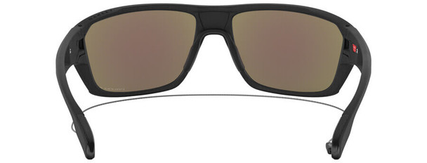 Oakley SI Split Shot Sunglasses with Matte Black Frame and Prizm Deep Water Polarized Lens - Back