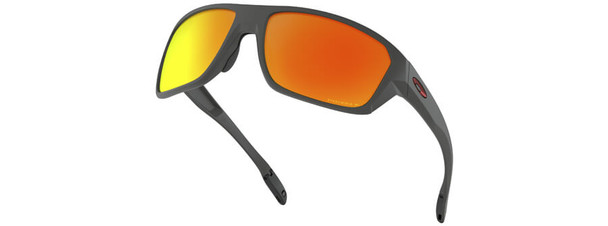 Oakley SI Split Shot Sunglasses with Matte Heather Grey Frame and Prizm Ruby Polarized Lens - Hero