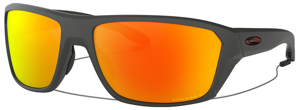 Oakley SI Split Shot Sunglasses with Matte Heather Grey Frame and Prizm Ruby Polarized Lens