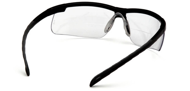 Pyramex Ever-Lite Bifocal Safety Glasses with Black Frame and Clear Lens - Back