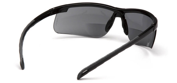 Pyramex Ever-Lite Bifocal Safety Glasses with Black Frame and Gray Lens - Back