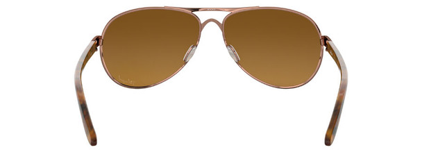 Oakley Feedback Sunglasses with Rose Gold Frame and VR50 Polarized Brown Gradient Lens - Back