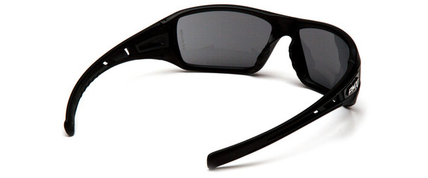 Pyramex Velar Safety Glasses with Black Frame and Gray Lens - Back